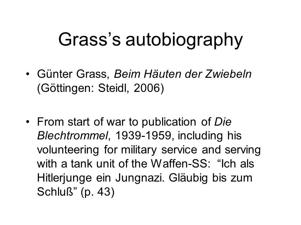 Grass's autobiography