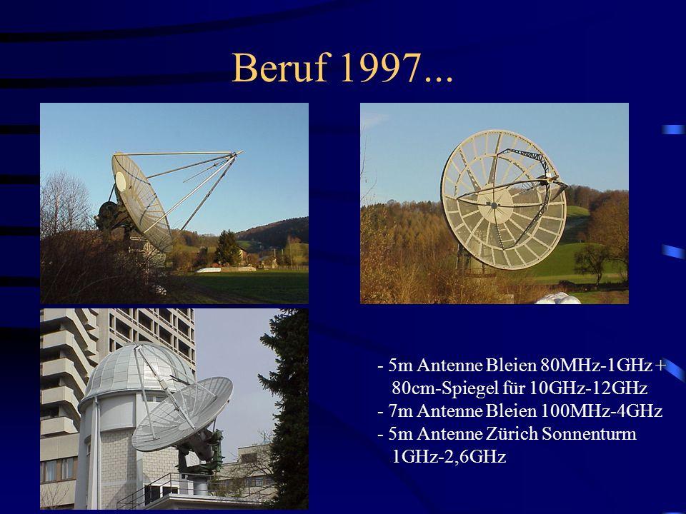 Beruf 1997... - 5m Antenne Bleien 80MHz-1GHz +