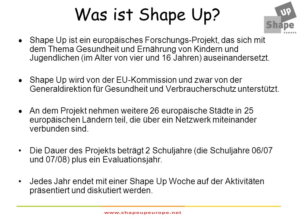 Was ist Shape Up