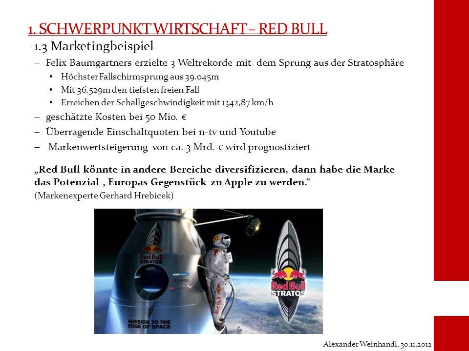 1. Schwerpunkt Wirtschaft – Red Bull