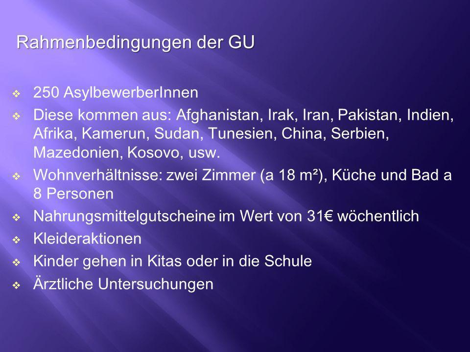 Rahmenbedingungen der GU
