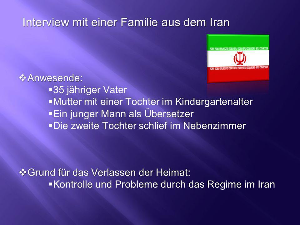 Interview mit einer Familie aus dem Iran