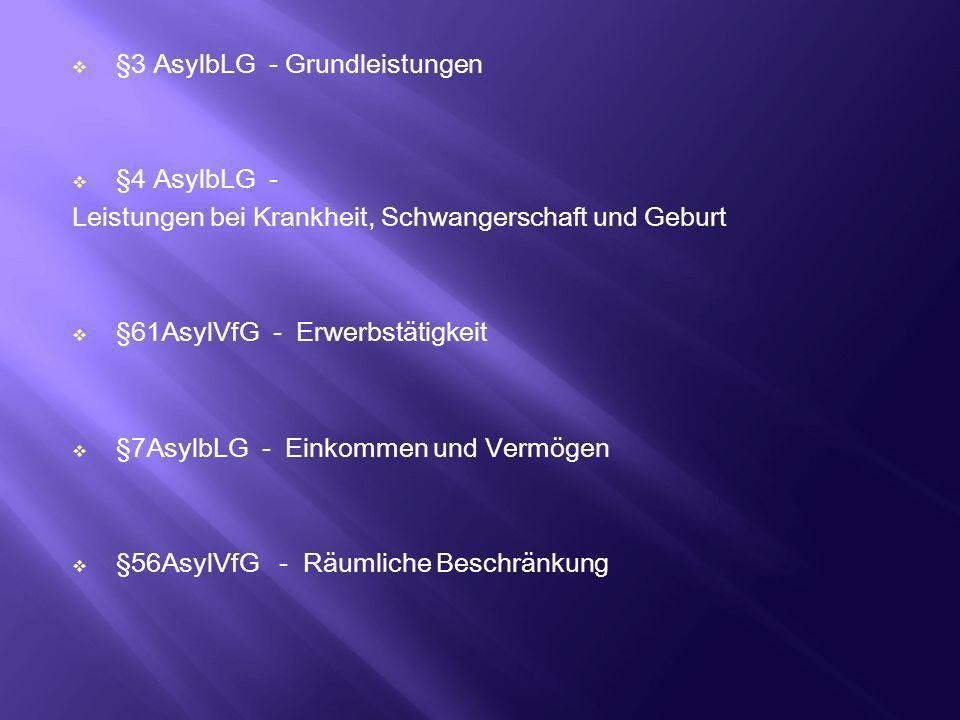 §3 AsylbLG - Grundleistungen