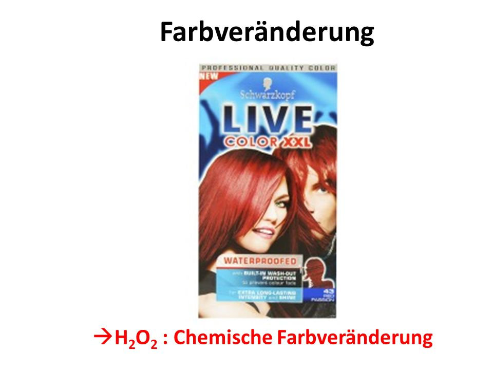 Farbveränderung H2O2 : Chemische Farbveränderung