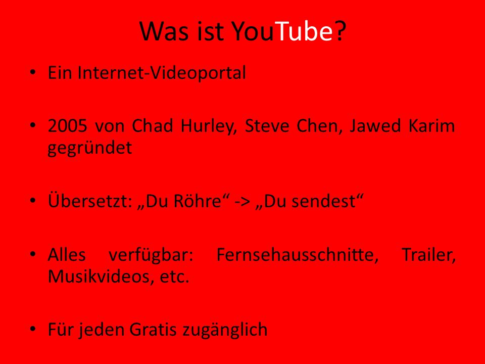 Was ist YouTube Ein Internet-Videoportal