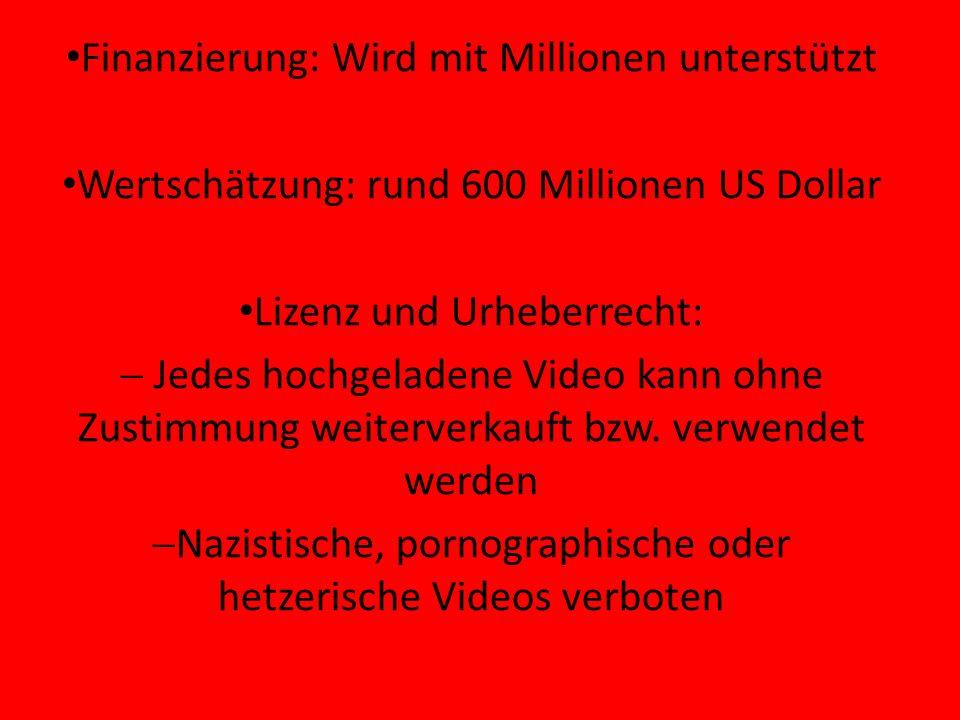Finanzierung: Wird mit Millionen unterstützt