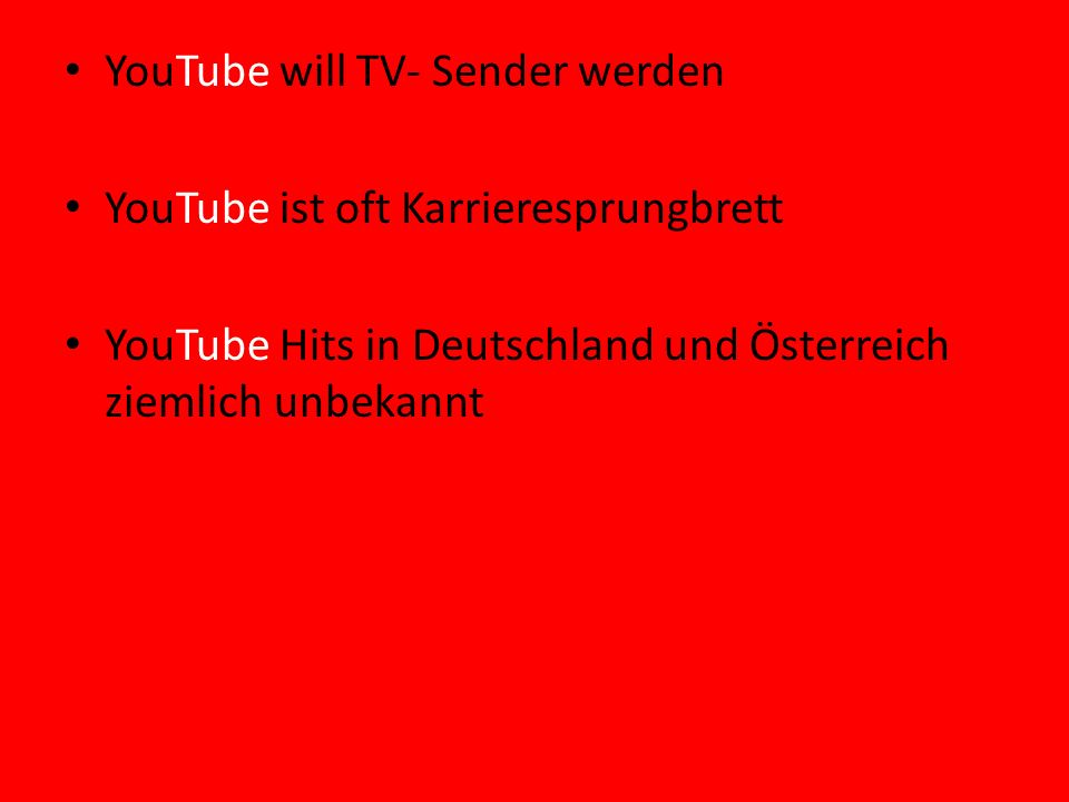 YouTube will TV- Sender werden