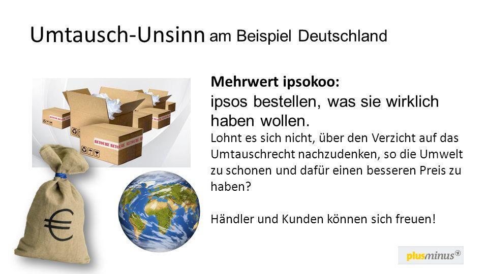 Umtausch-Unsinn am Beispiel Deutschland Mehrwert ipsokoo: