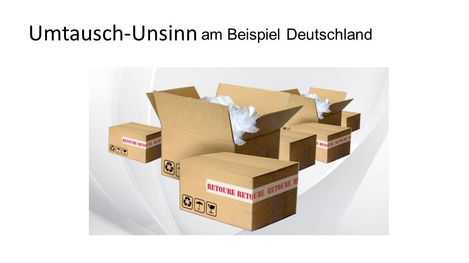 Umtausch-Unsinn am Beispiel Deutschland