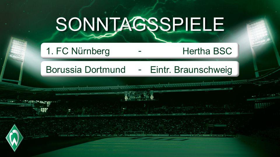 SONNTAGSSPIELE 1. FC Nürnberg Borussia Dortmund - Hertha BSC