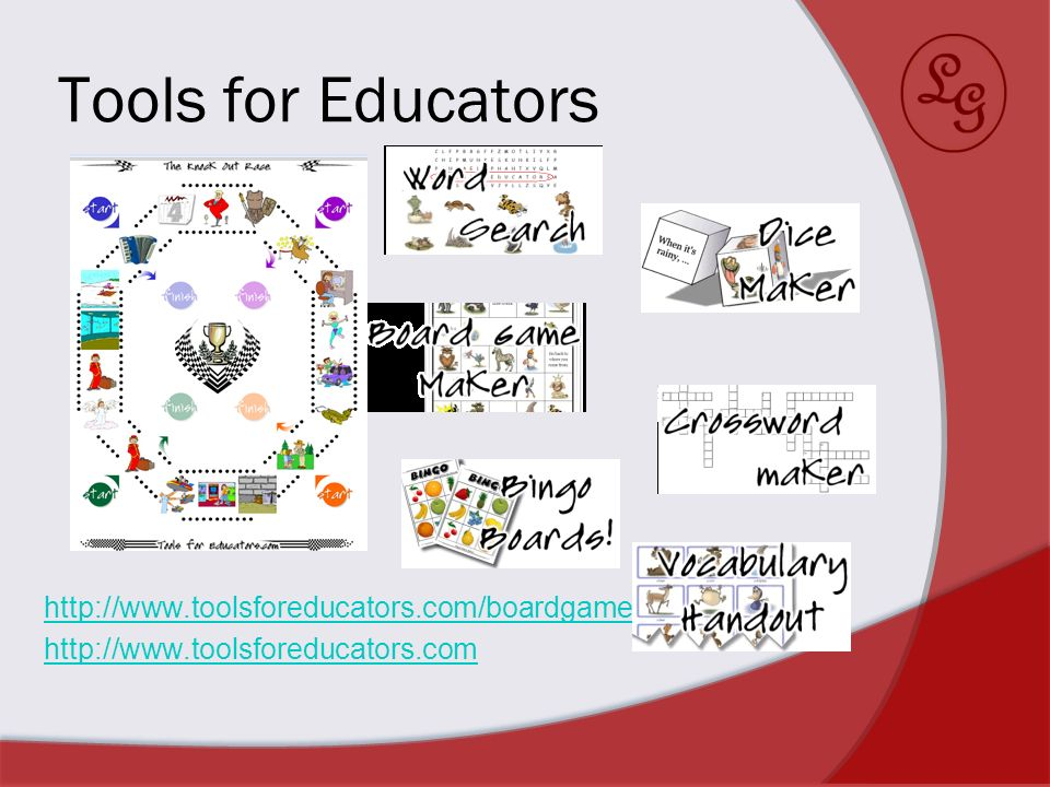 Tools for Educators http://www.toolsforeducators.com/boardgames/ http://www.toolsforeducators.com