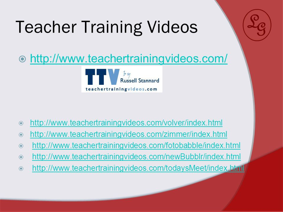 Teacher Training Videos