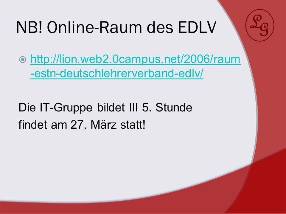 NB! Online-Raum des EDLV