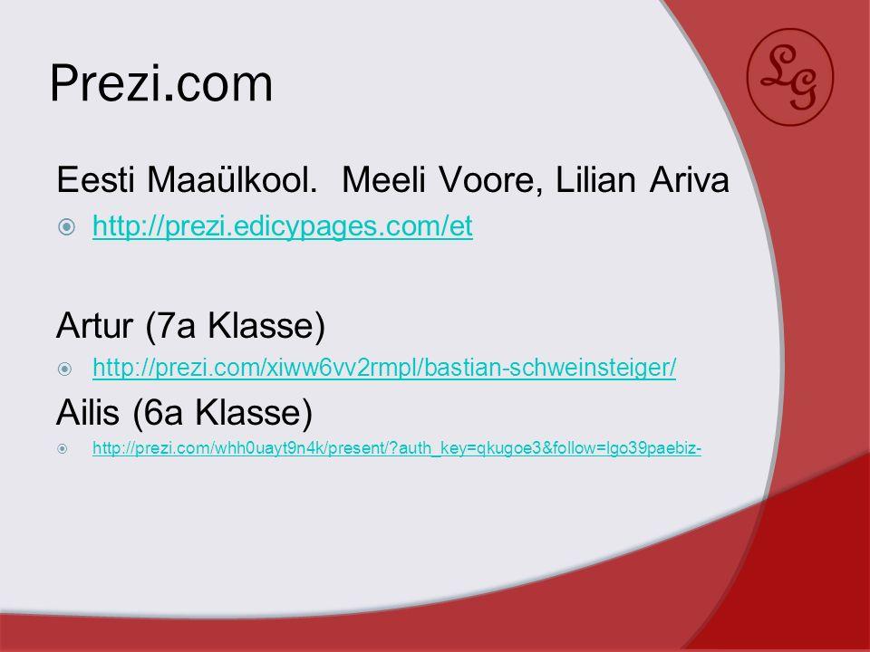 Prezi.com Eesti Maaülkool. Meeli Voore, Lilian Ariva Artur (7a Klasse)