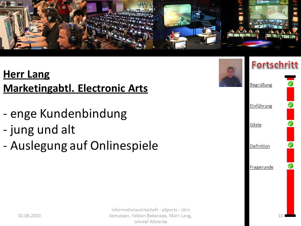 Herr Lang Marketingabtl. Electronic Arts