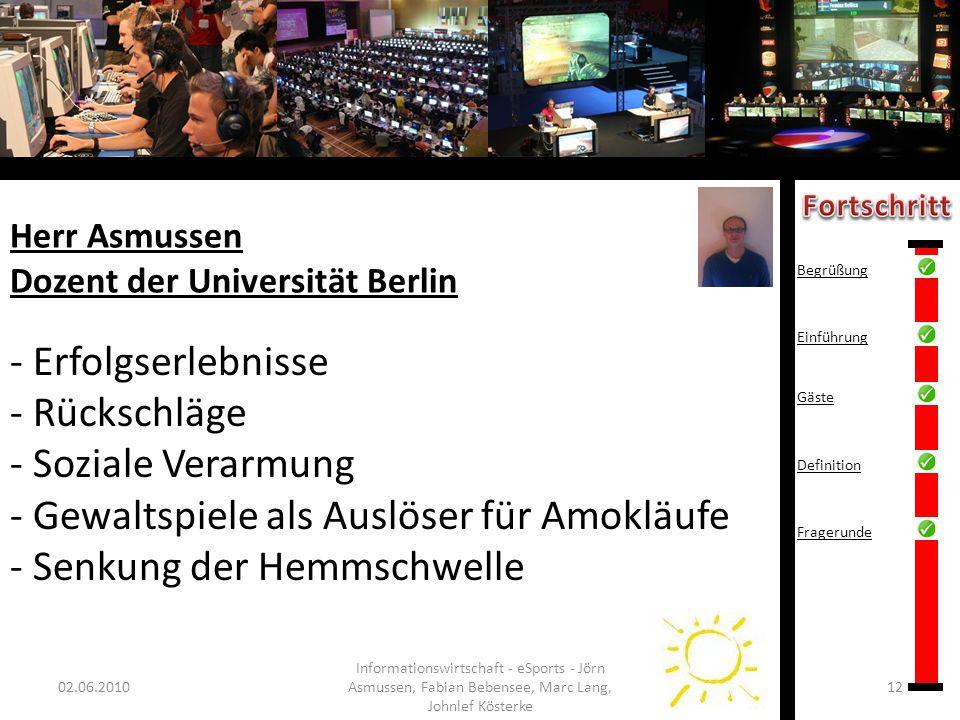 Herr Asmussen Dozent der Universität Berlin
