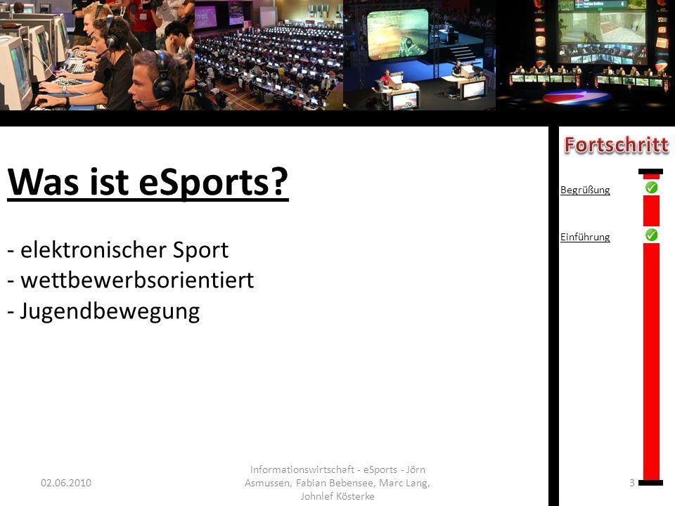 elektronischer Sport wettbewerbsorientiert Jugendbewegung