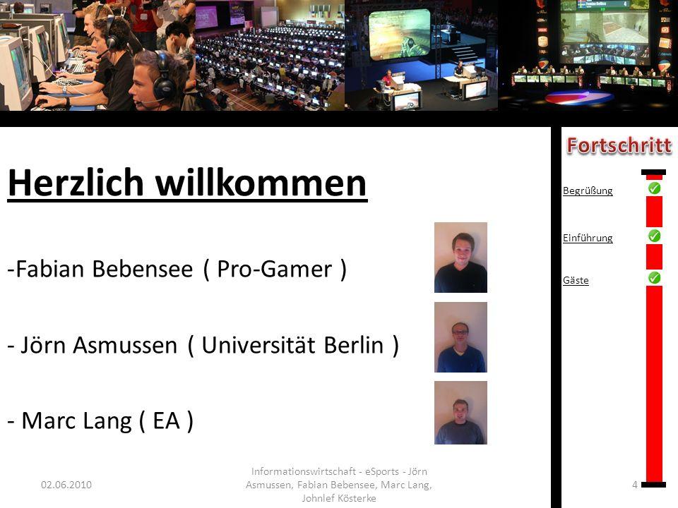 Herzlich willkommen Fabian Bebensee ( Pro-Gamer )