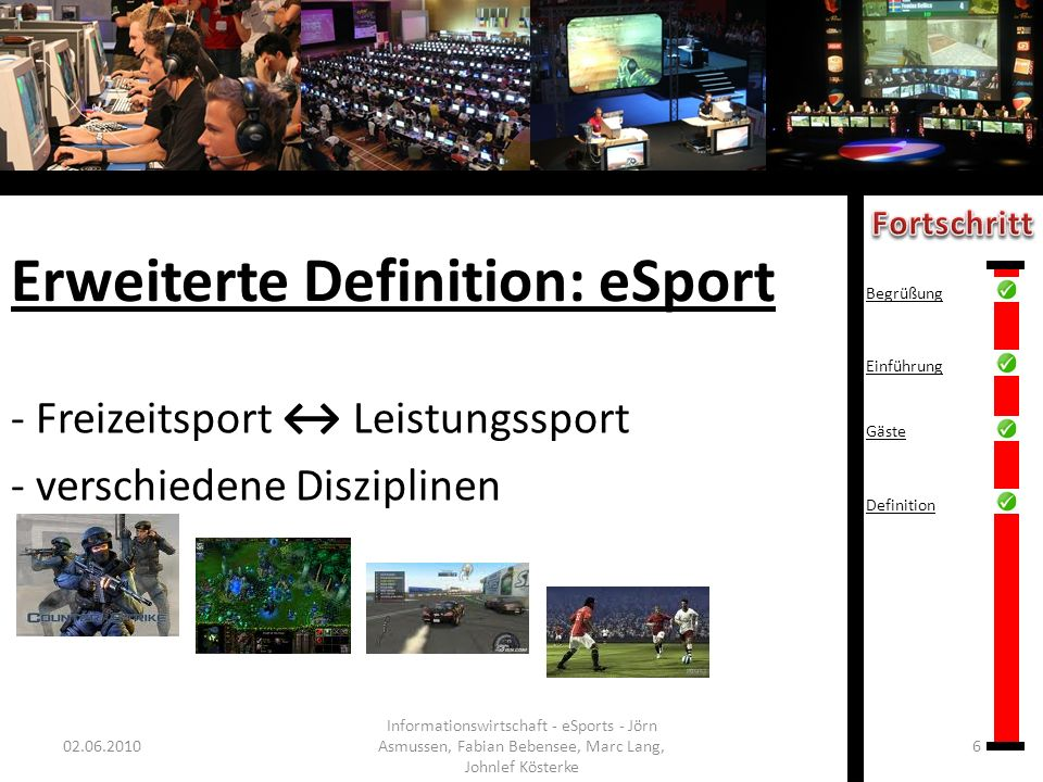 Erweiterte Definition: eSport