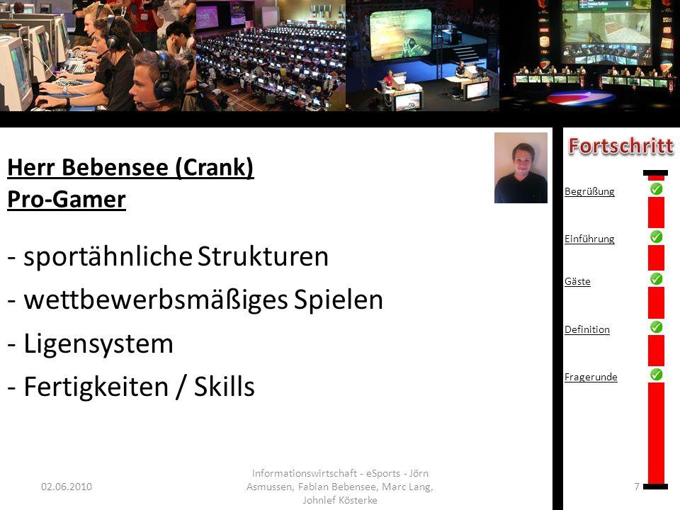 Herr Bebensee (Crank) Pro-Gamer