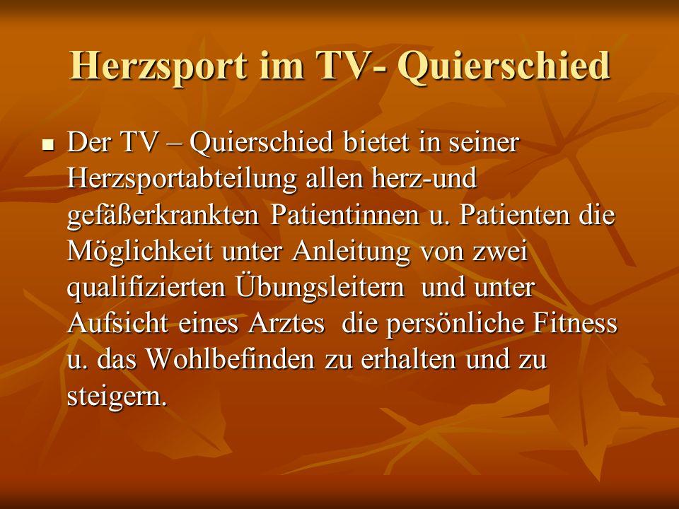 Herzsport im TV- Quierschied