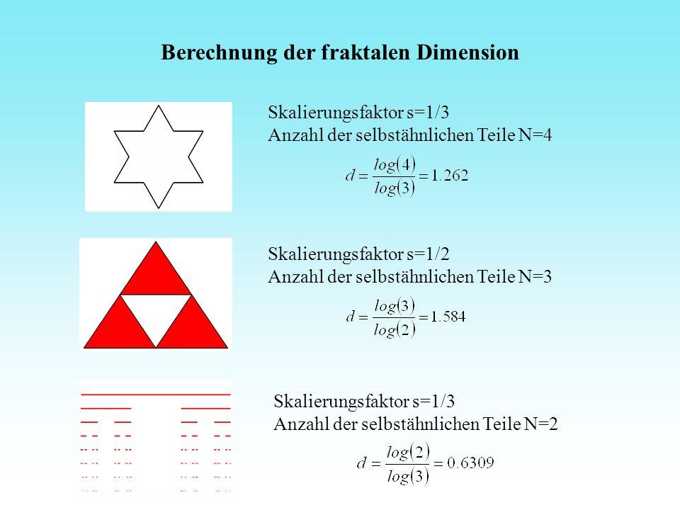 Berechnung der fraktalen Dimension