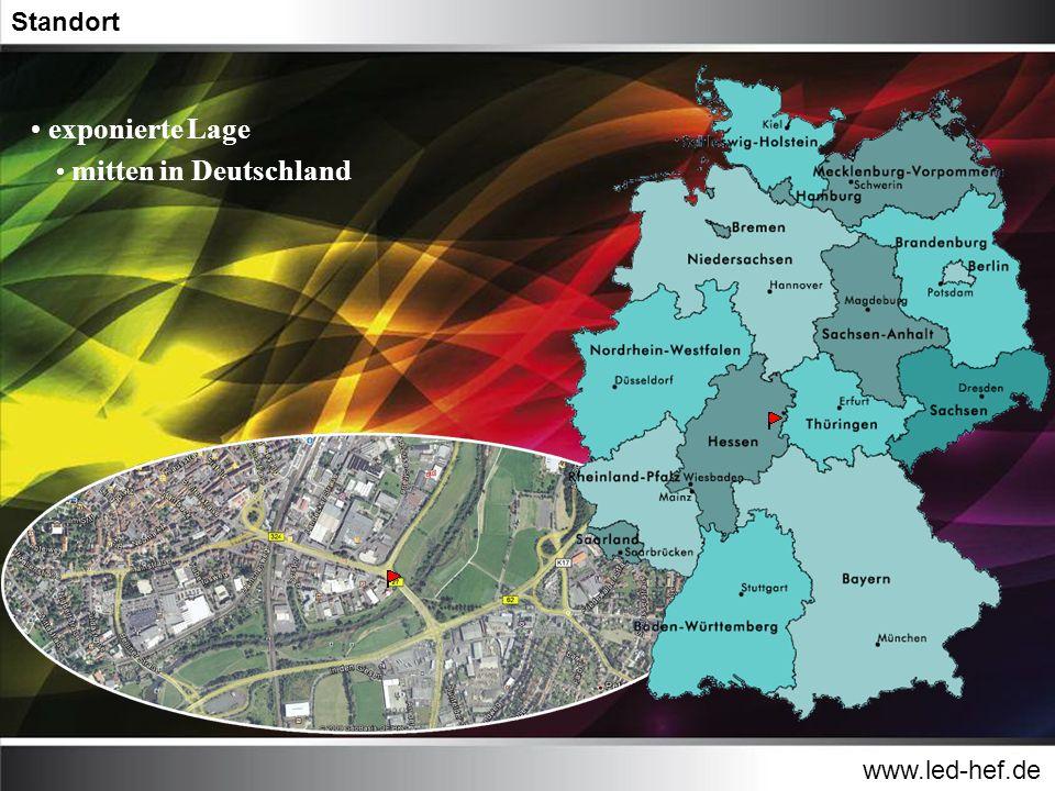 Standort exponierte Lage mitten in Deutschland www.led-hef.de