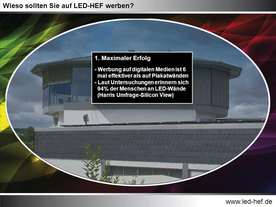 Wieso sollten Sie auf LED-HEF werben
