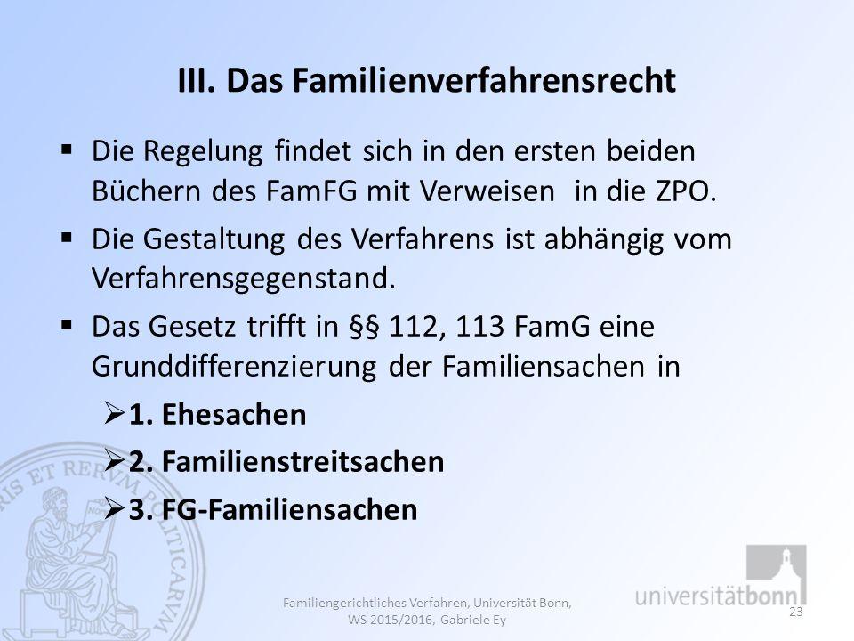 III. Das Familienverfahrensrecht