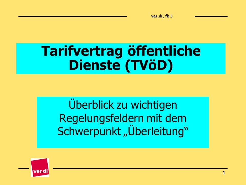 Tarifvertrag öffentliche Dienste (TVöD)