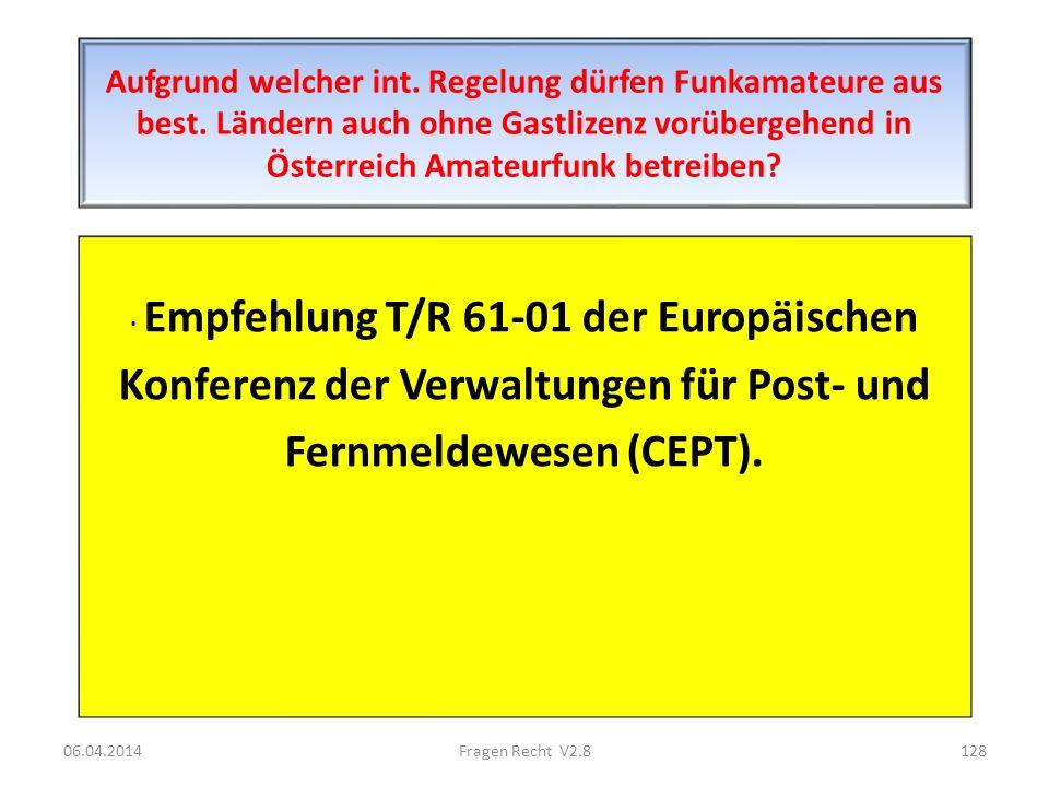 Konferenz der Verwaltungen für Post- und Fernmeldewesen (CEPT).