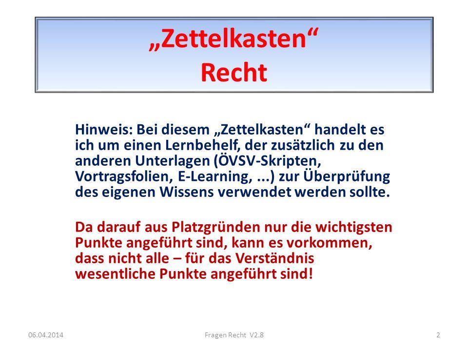 """""""Zettelkasten Recht"""