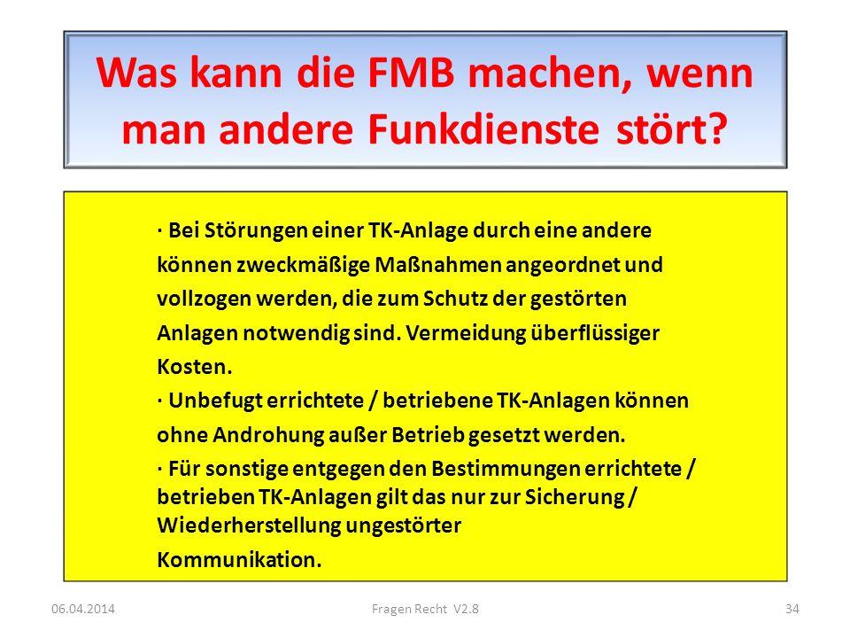 Was kann die FMB machen, wenn man andere Funkdienste stört