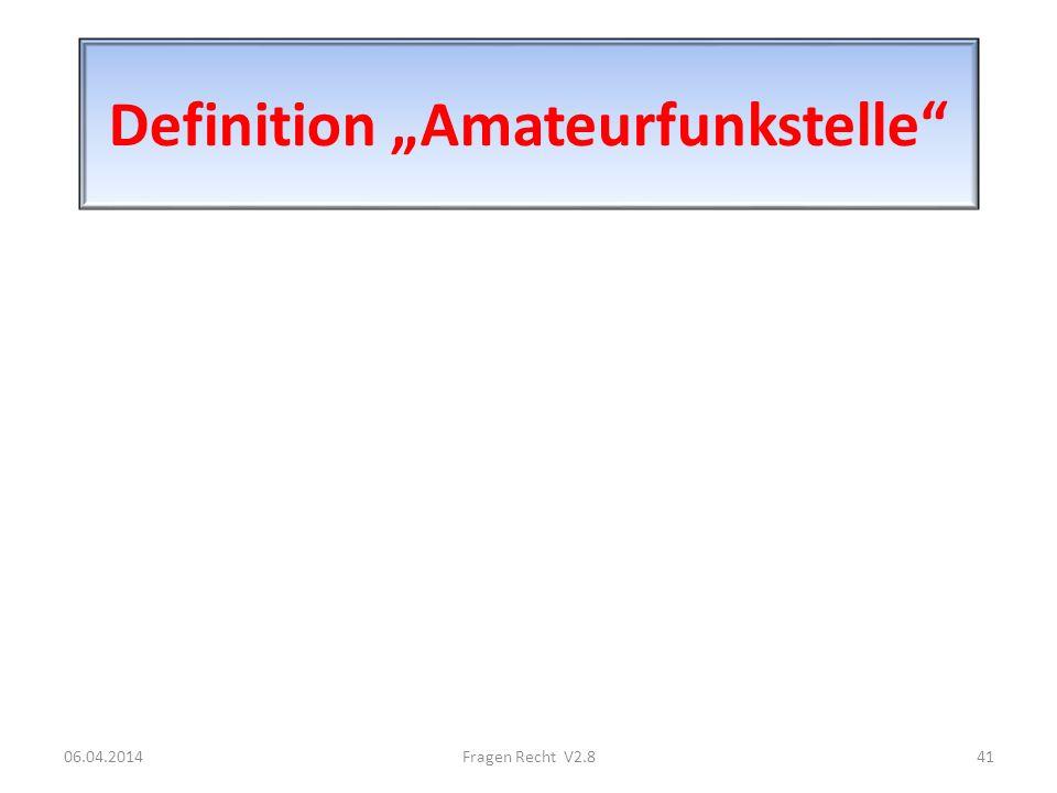 "Definition ""Amateurfunkstelle"