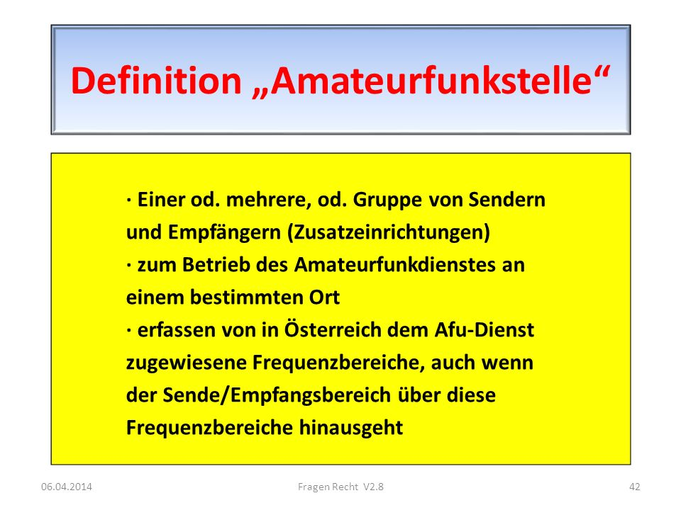 "Definition ""Amateurfunkstelle"