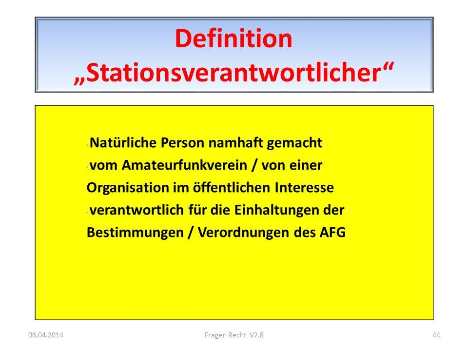 """Definition """"Stationsverantwortlicher"""