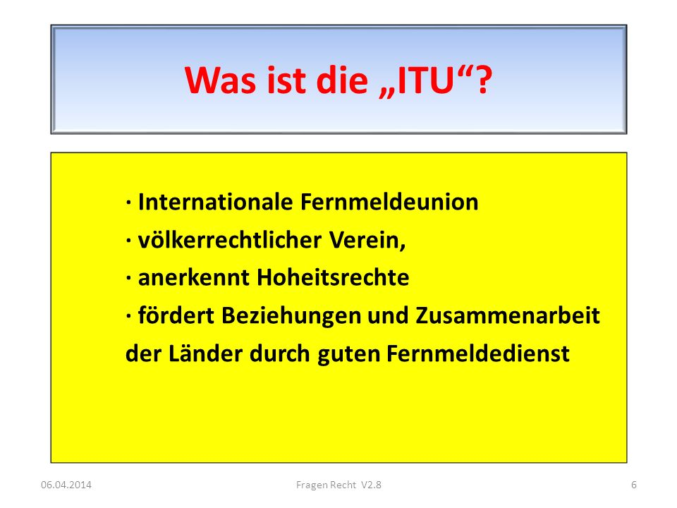 "Was ist die ""ITU · Internationale Fernmeldeunion"