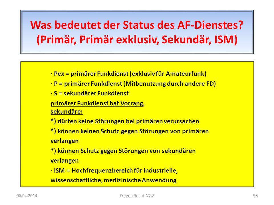 Was bedeutet der Status des AF-Dienstes