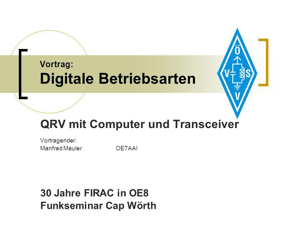 Vortrag: Digitale Betriebsarten