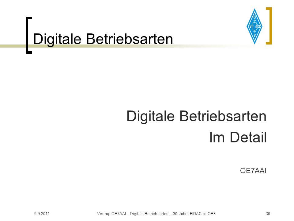 Digitale Betriebsarten