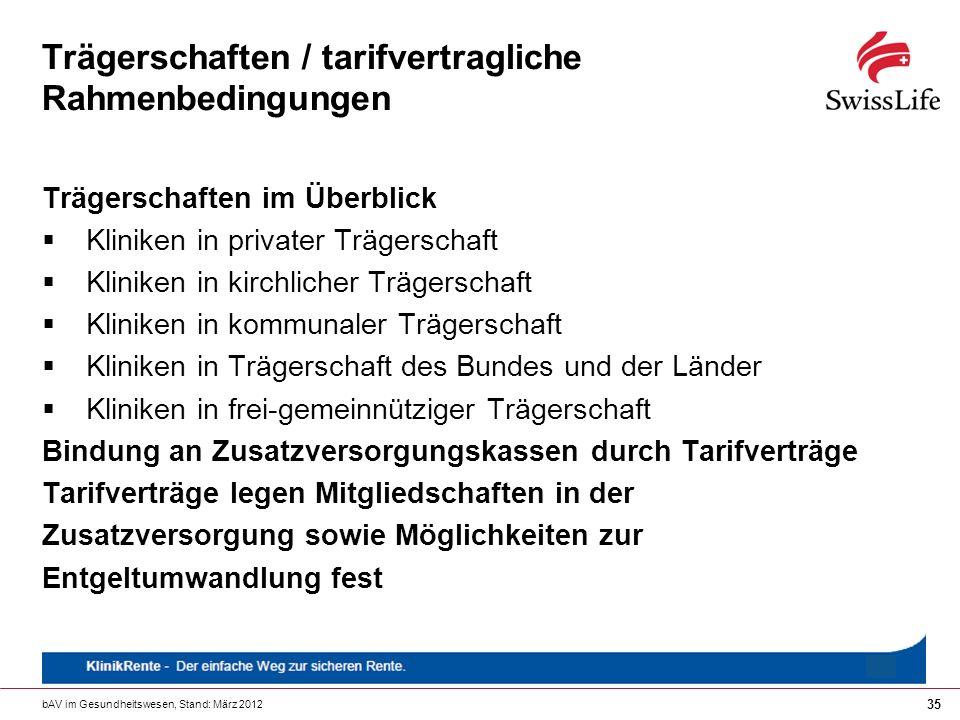 Trägerschaften / tarifvertragliche Rahmenbedingungen