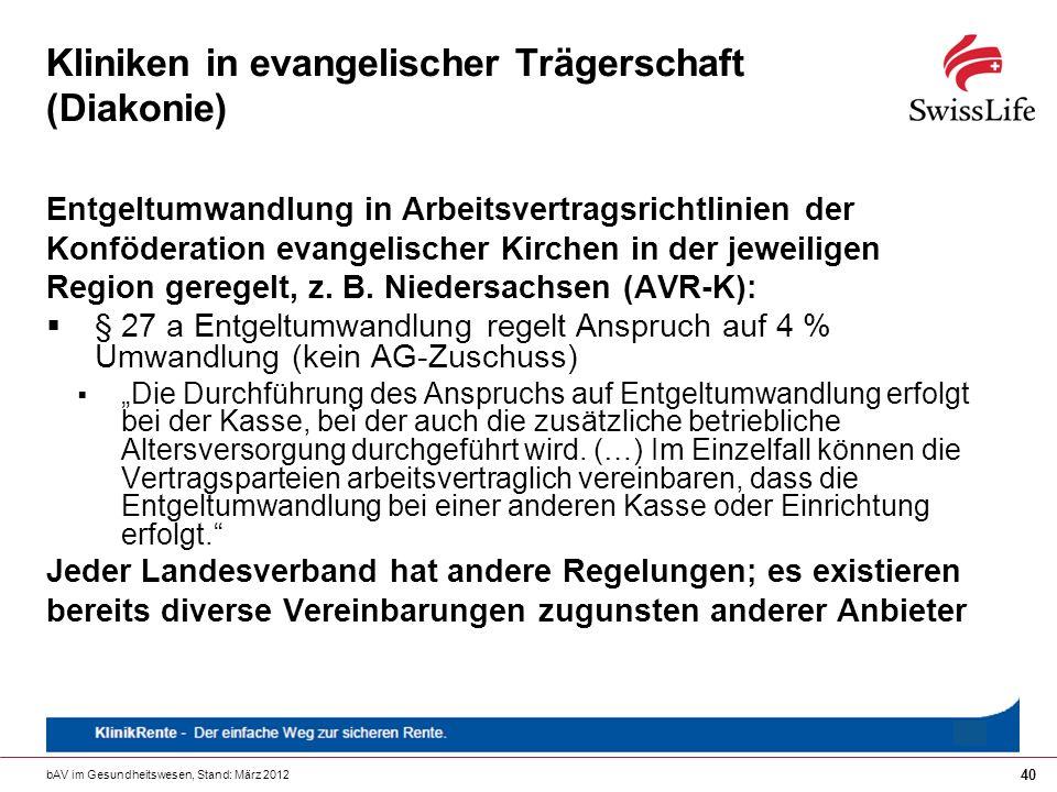 Kliniken in evangelischer Trägerschaft (Diakonie)