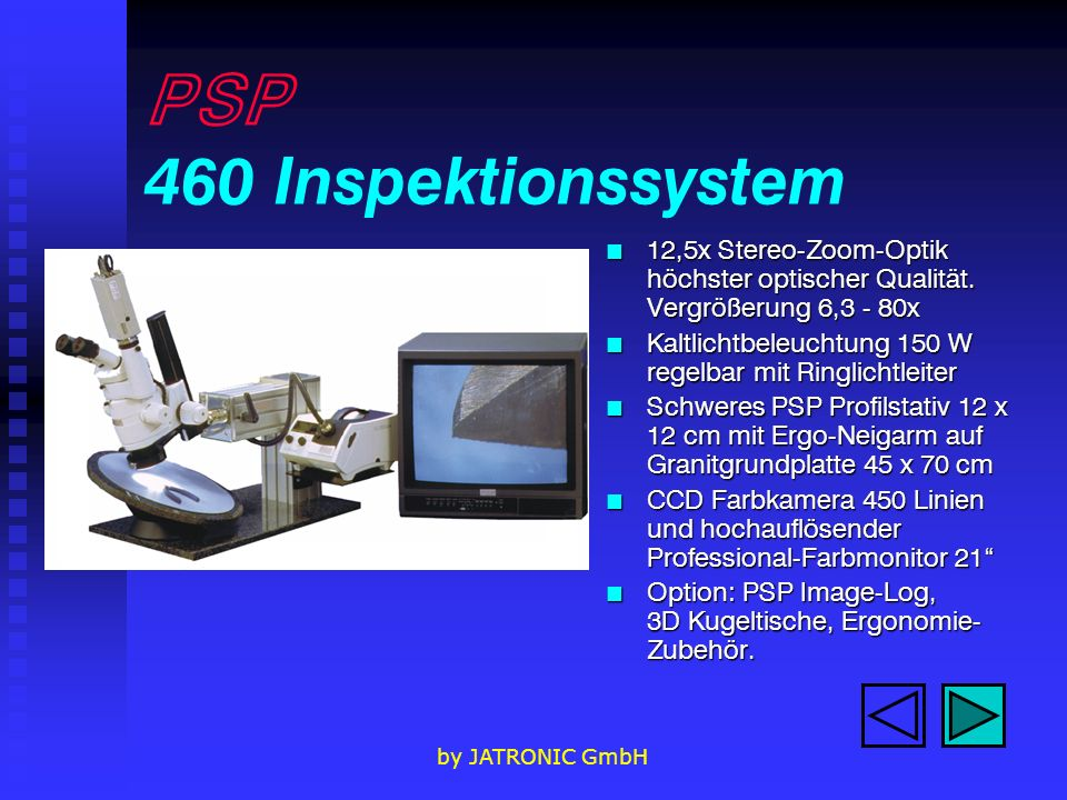 PSP 460 Inspektionssystem