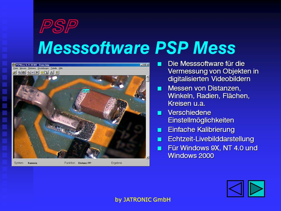 PSP Messsoftware PSP Mess