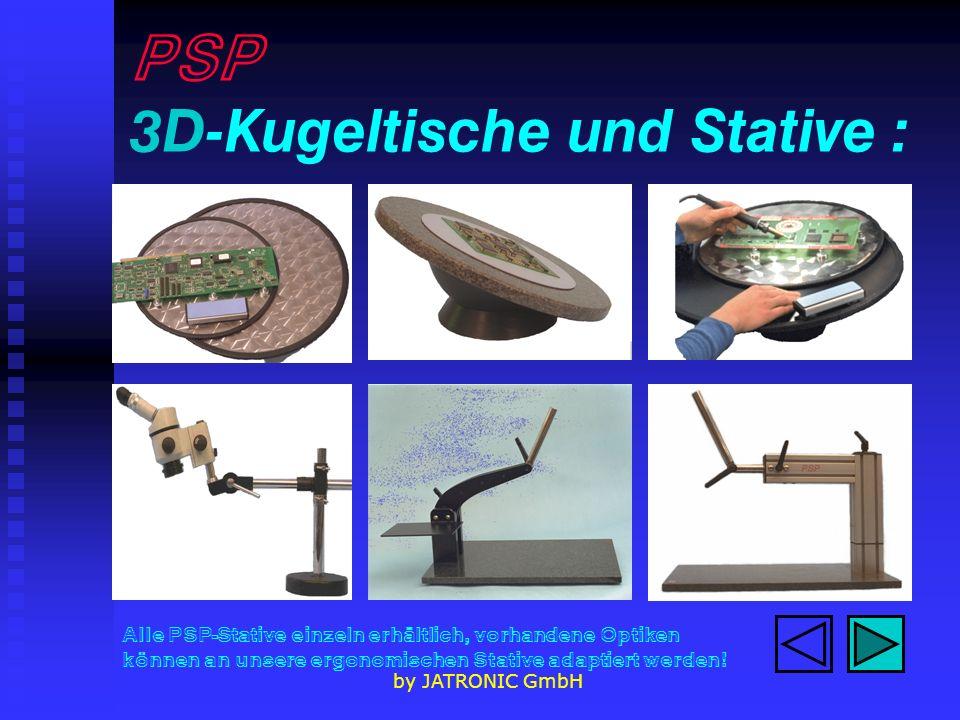 PSP 3D-Kugeltische und Stative :
