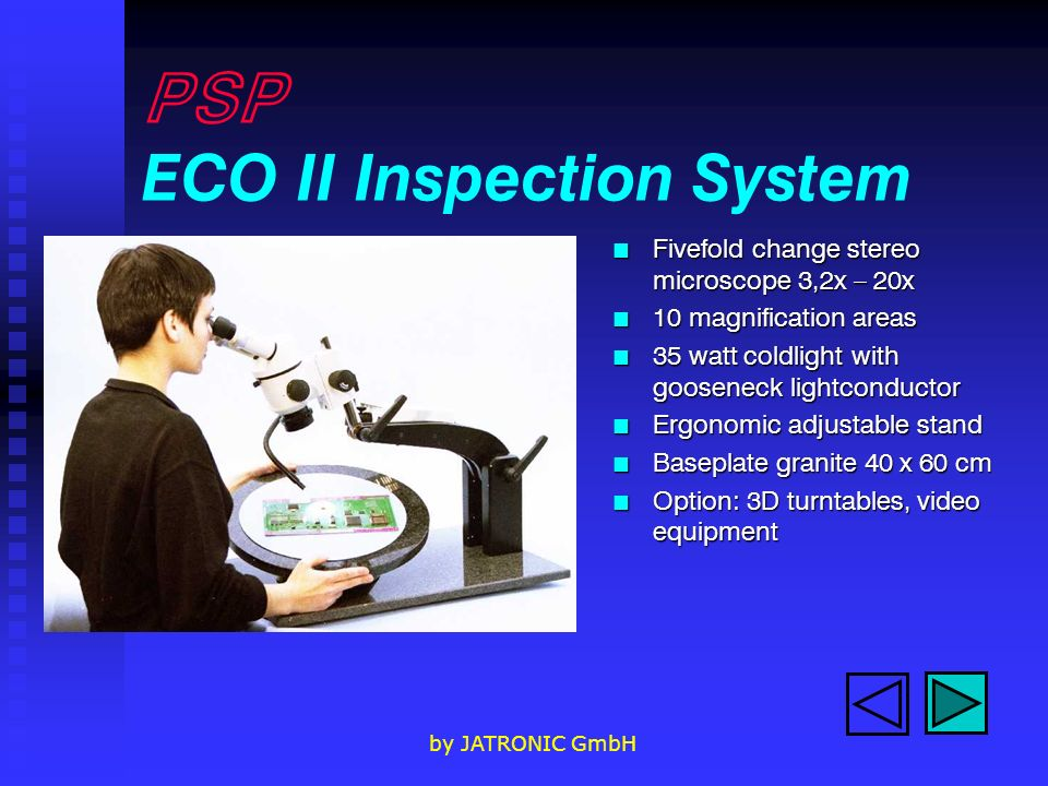 PSP ECO II Inspection System