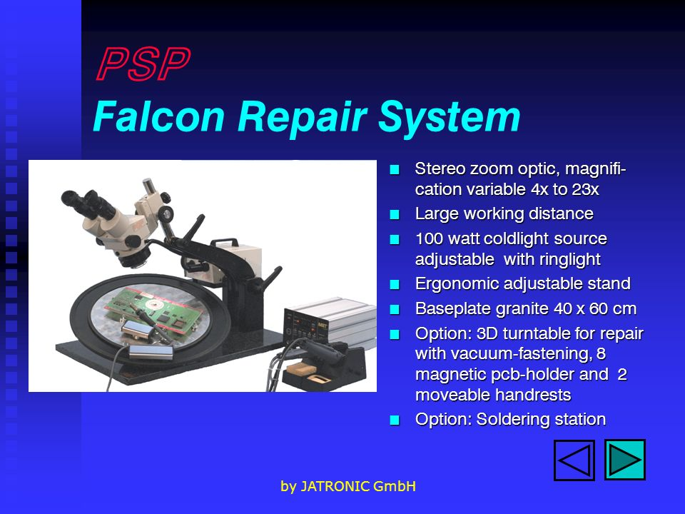 PSP Falcon Repair System