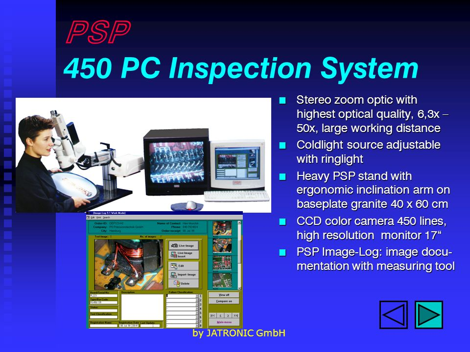 PSP 450 PC Inspection System