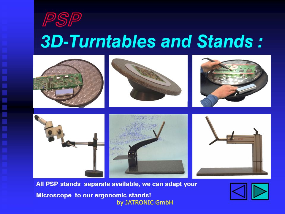 PSP 3D-Turntables and Stands :