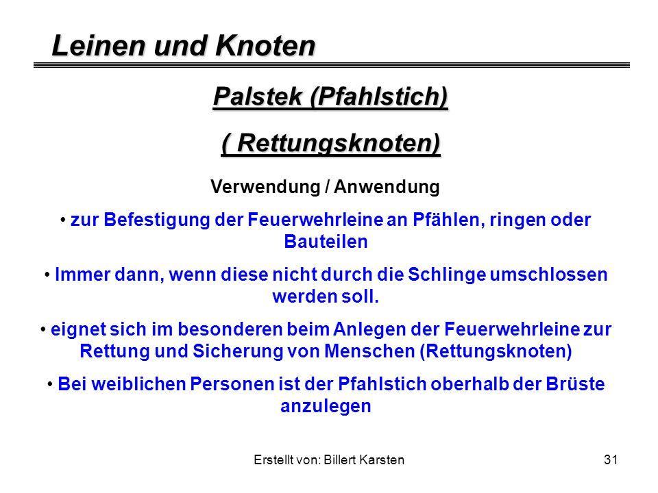 Palstek (Pfahlstich) ( Rettungsknoten)